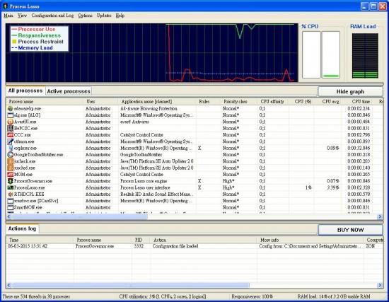 系統管理員程式 Process Lasso