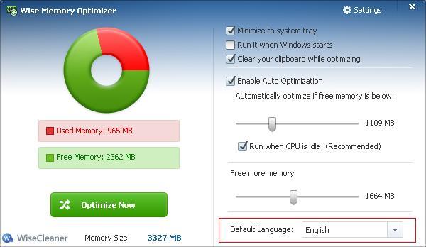 電腦記憶體最佳化軟體工具 Wise Memory Optimizer 012