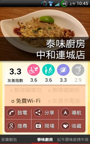 無障礙空間餐廳APP 友善台北好餐廳