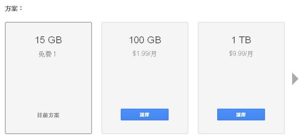 Google drive雲端硬碟降價了