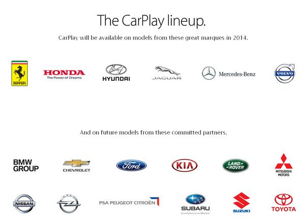 蘋果將推出「CarPlay」iOS系統 搶佔車用儀器市場