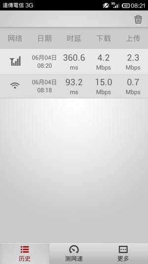 手機網路速度測試