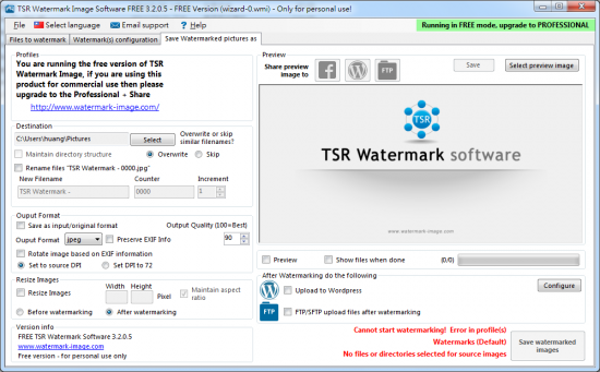 免費製作浮水印軟體 TSR Watermark Image01