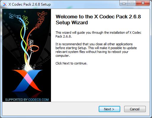 影片音樂解碼器 X Codec Pack01