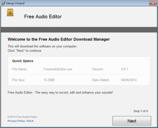 免費音樂編輯器與製作 Free Audio Editor 201401