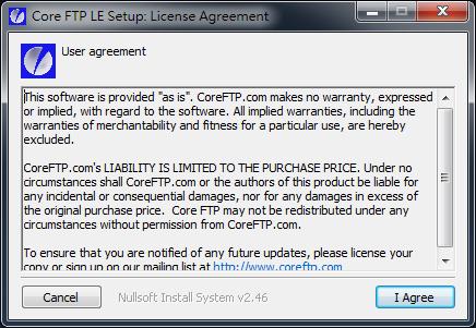 免費Ftp傳輸軟體 Core FTP LE01