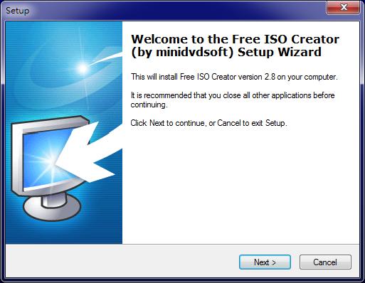 開機光碟製作工具 Free ISO Creator 01