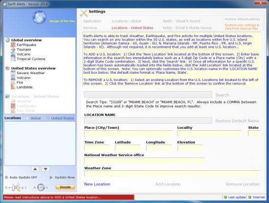 天災警報軟體 Earth Alerts01