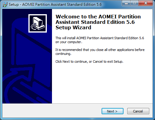 免費磁碟分割軟體 AOMEI Partition Assistant01