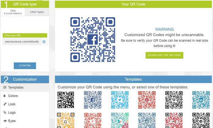 替網站、粉絲團做一個彩色QR Code01