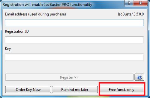 免費光碟映像檔工具 IsoBuster01
