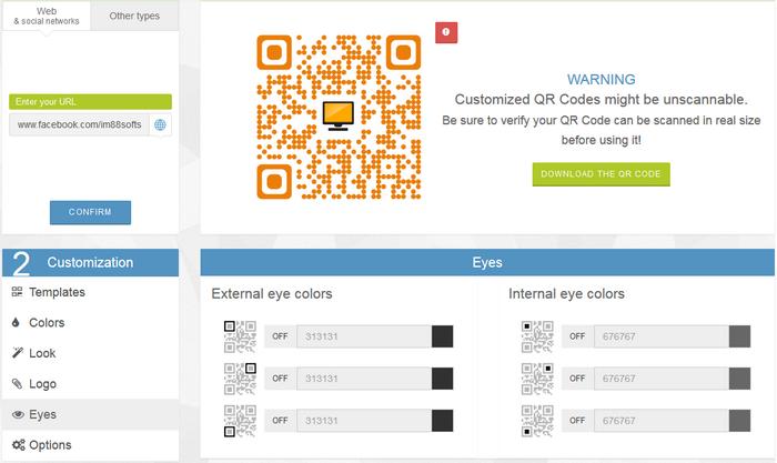 替網站、粉絲團做一個彩色QR Code03
