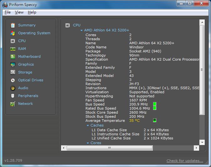 免費電腦硬體偵測軟體 Speccy 02