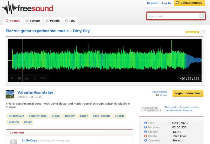 免費配樂素材下載 Freesound02