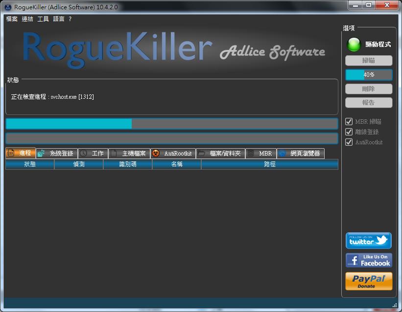 惡意軟體移除工具 RogueKiller02