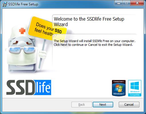 SSD 硬碟壽命檢測 SSDLife Free01