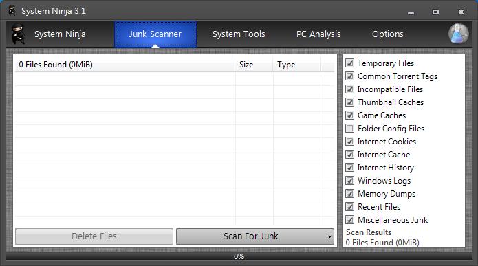 系統清理與檔案分析 System Ninja01