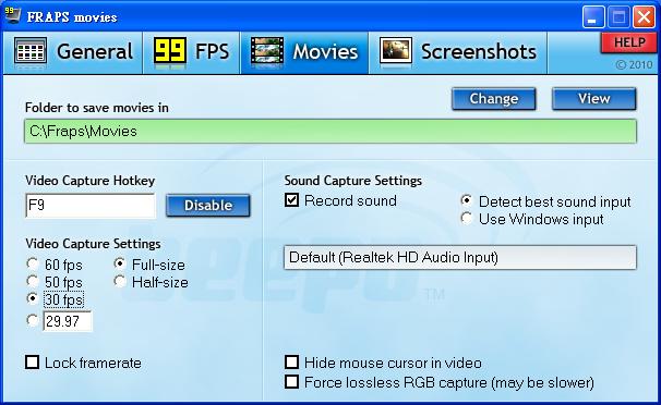 遊戲畫面錄影擷圖 影像錄製Fraps的介紹
