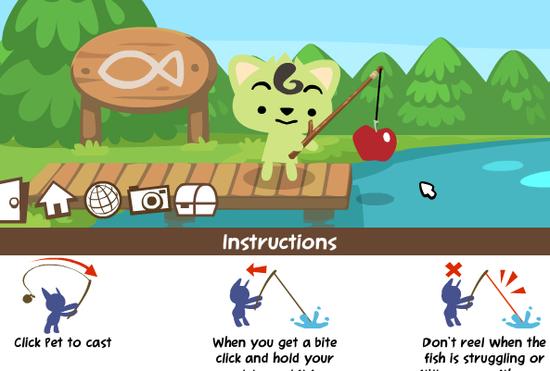 Facebook Pet Society 寵物釣魚教學4