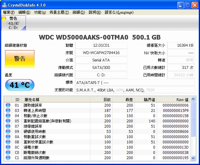 硬碟檢測狀態工具 Crystaldiskinfo 免安裝