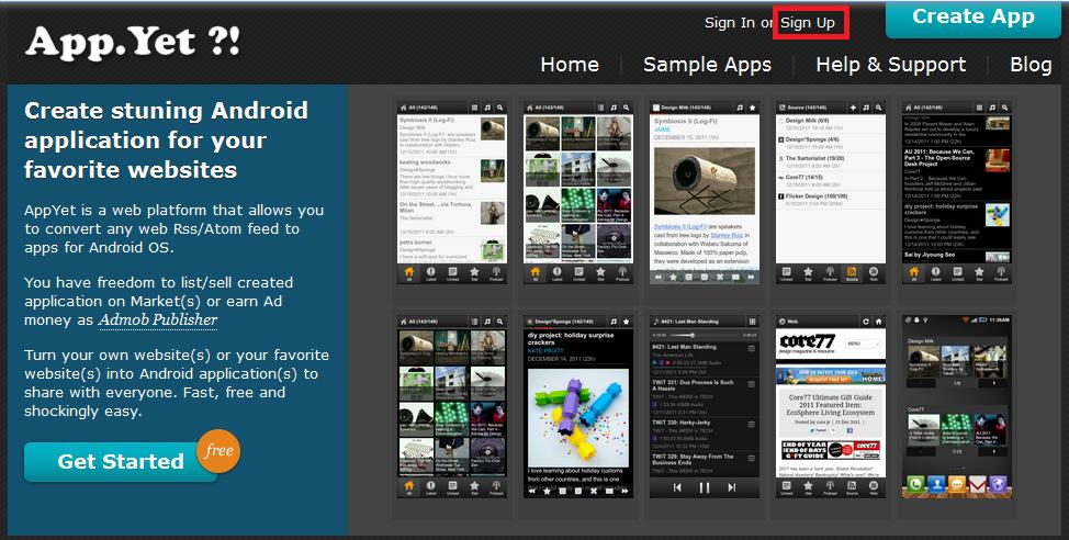 部落格做成Android App