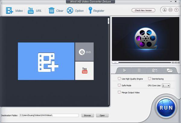 專業影音轉檔編輯工具 WinX HD Video Converter Deluxe
