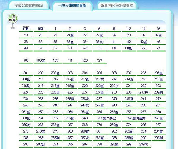 台北等公車 電腦查尋工具