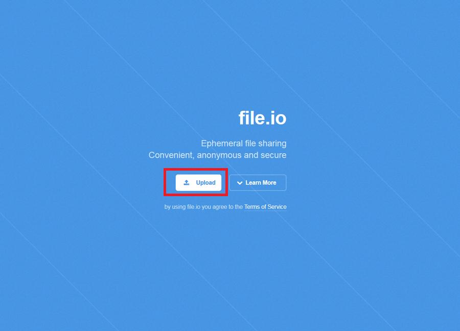 免費檔案上傳空間 File.io01