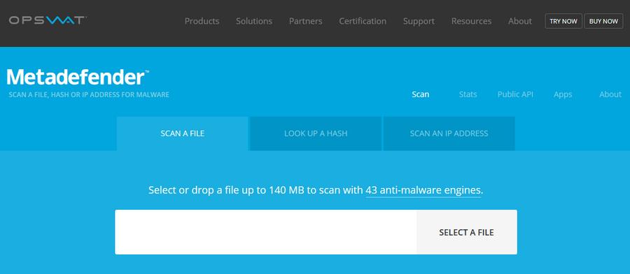 免費雲端掃毒工具 Metascan Online01