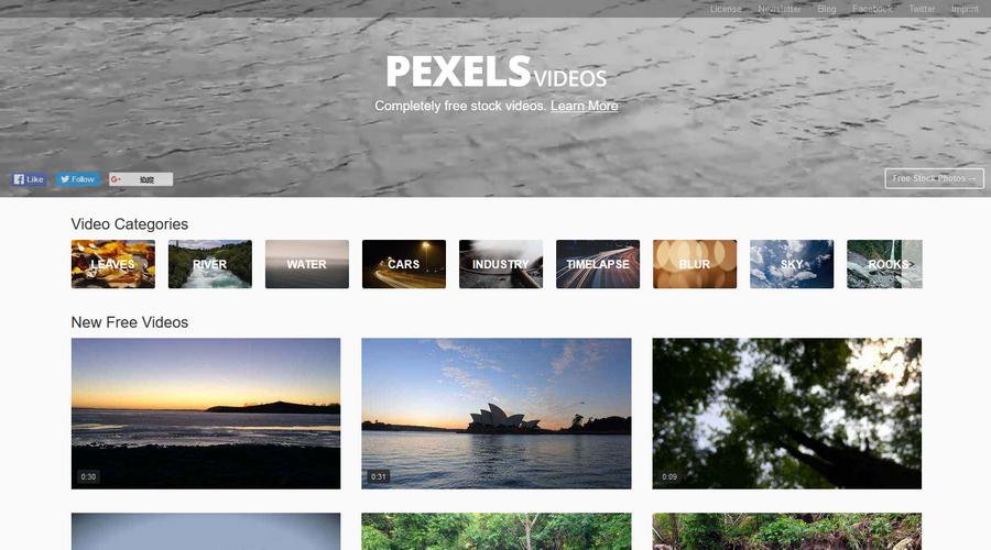 免費影片素材推薦 Pexels Videos01