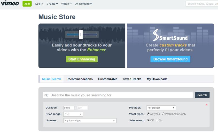 免費音樂配樂素材下載 Vimeo Music Store02