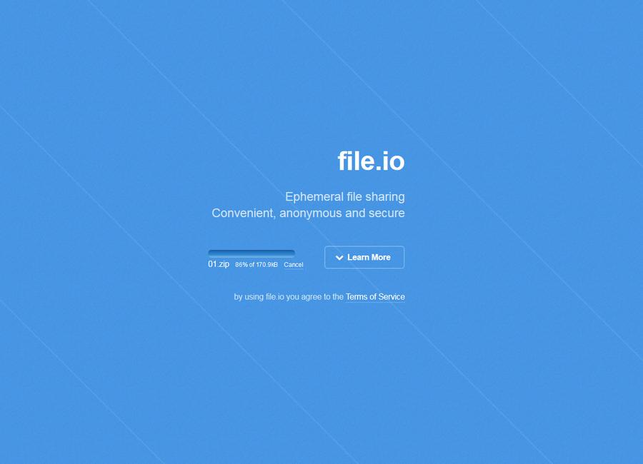 免費檔案上傳空間 File.io02