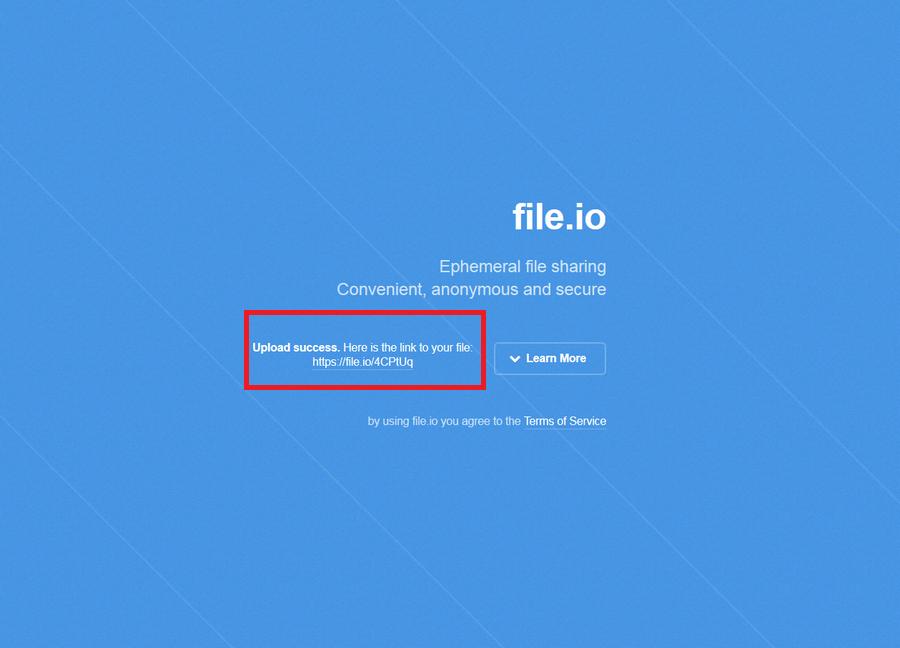免費檔案上傳空間 File.io03
