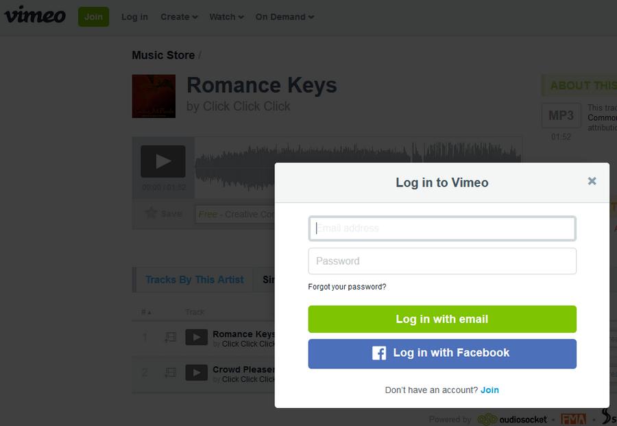 免費音樂配樂素材下載 Vimeo Music Store03