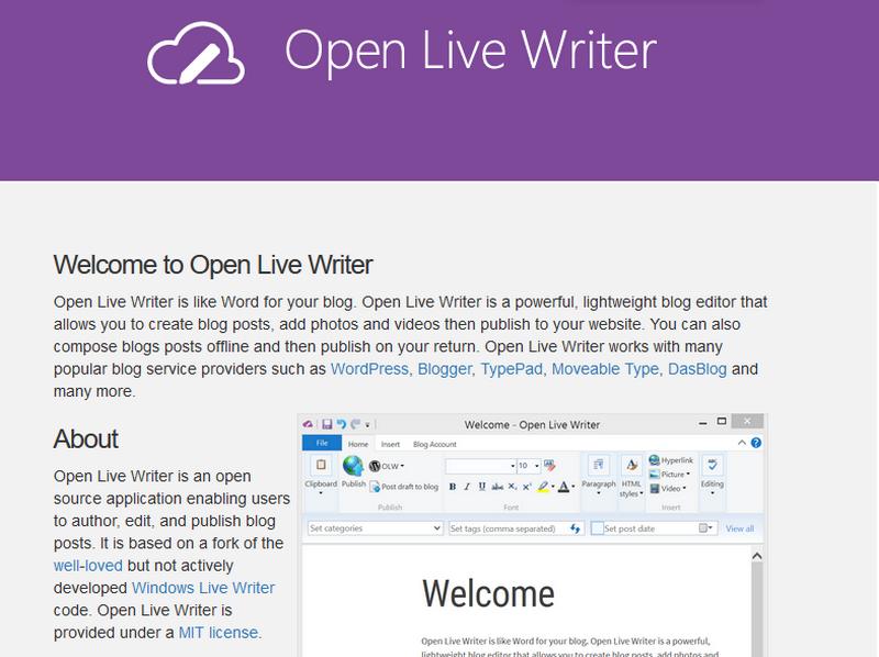 部落格編輯軟體 Open Live Writer 01