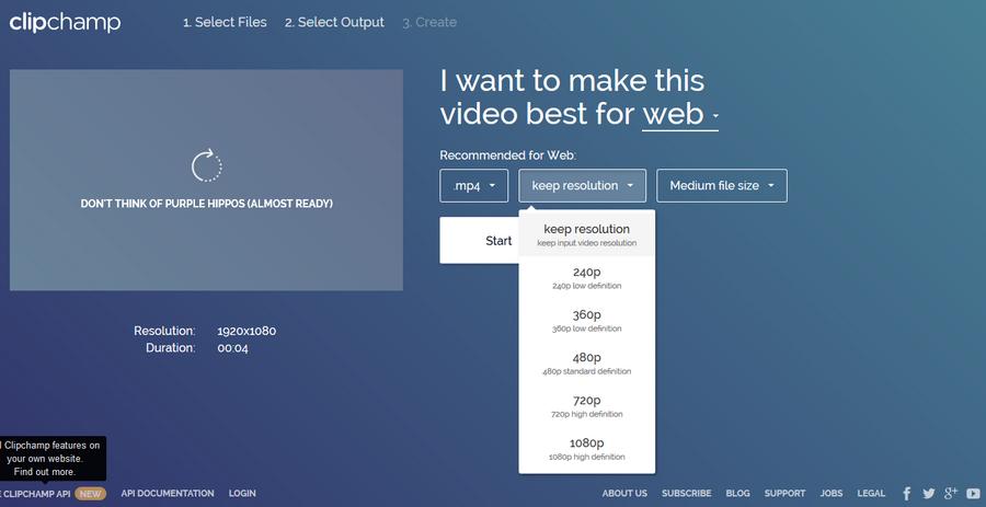 線上影片壓縮工具 Clipchamp02
