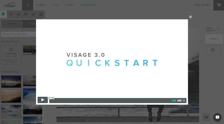 免費內容行銷圖片設計 Visage 做好服務推廣不可缺的網站