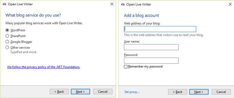 部落格編輯軟體 Open Live Writer 02