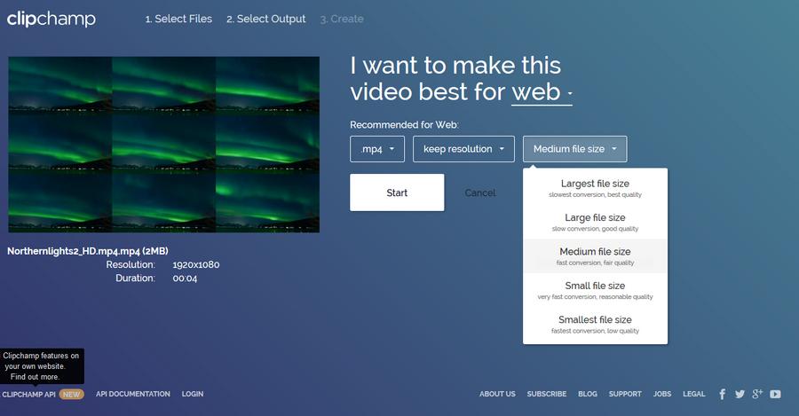 線上影片壓縮工具 Clipchamp03