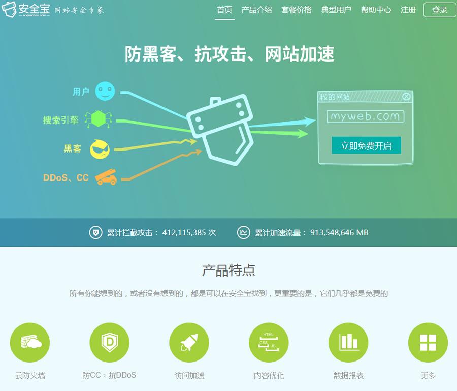 安全寶 中國免費雲端CDN系統01