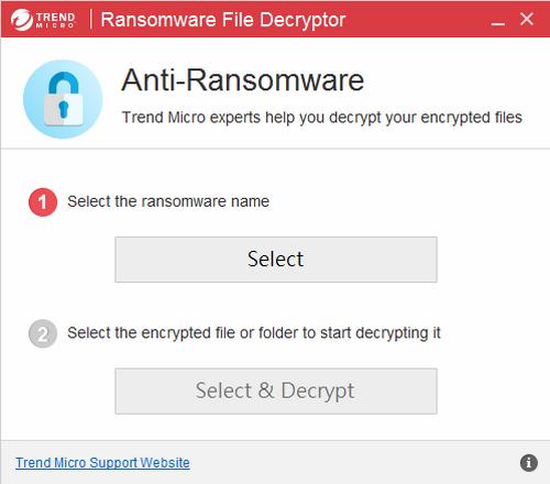 趨勢免費勒索病毒破解 Trend Micro Ransomware File Decryptor02