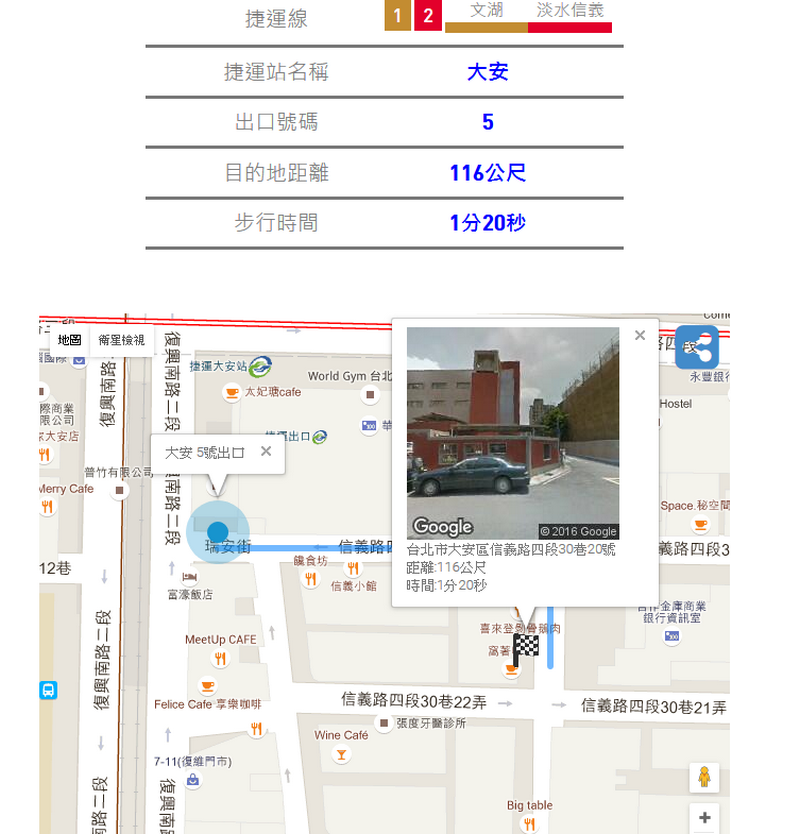 離捷運站最近的出口 MRT EXIT 捷近02