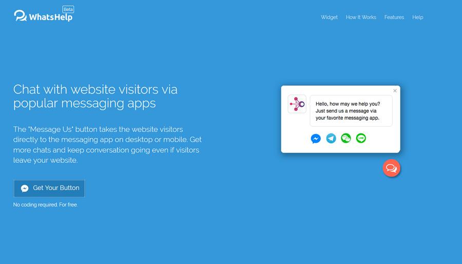 打造專屬網站客服系統 WhatsHelp.io01