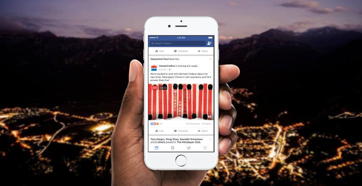 Facebook 臉書將推出語音直播