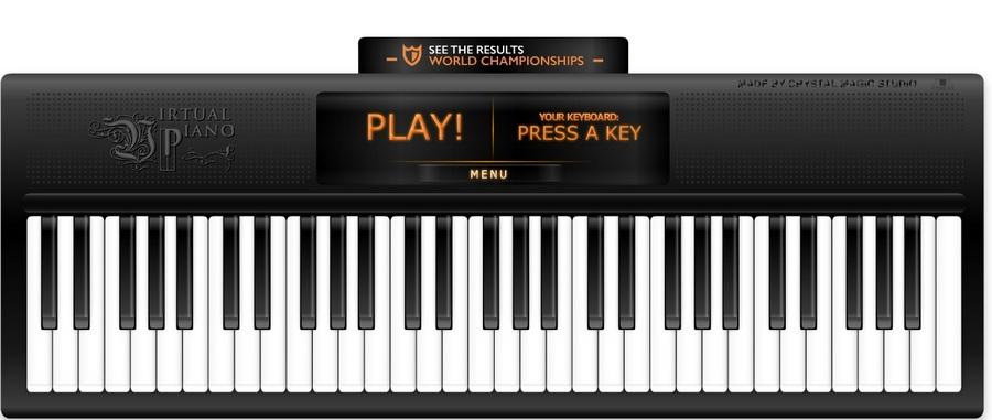線上虛擬鋼琴 免安裝 Virtualpiano