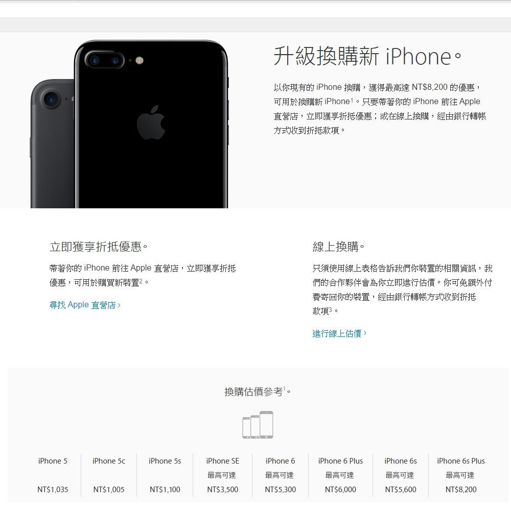 iPhone舊機換新機活動 我的手機值多少