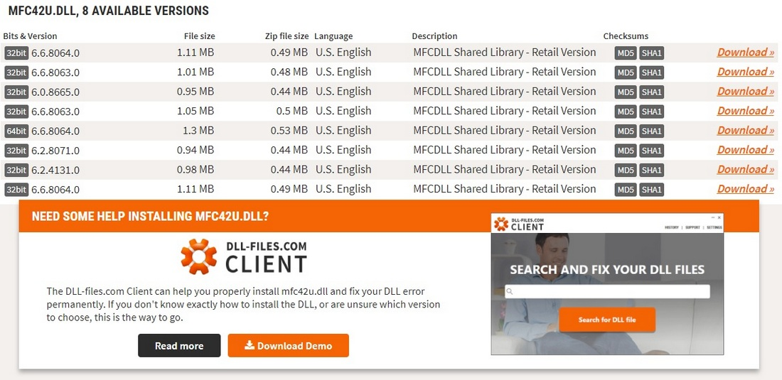 DLL檔案下載 解決mfc140u.dll MSVCR100.dll 遺失等問題