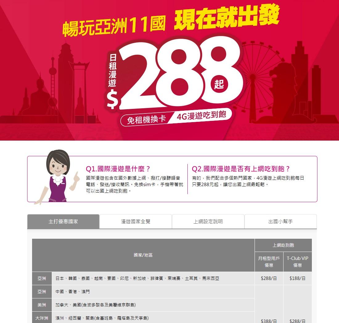 國際漫遊吃到飽比較 內附台灣之星申請網頁及流程
