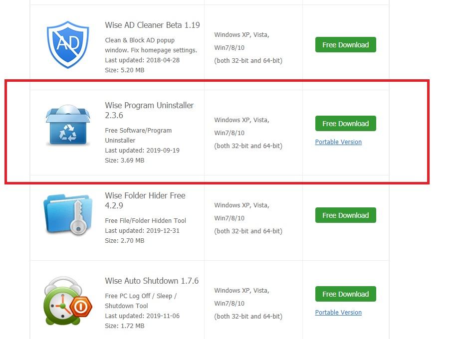 反安裝軟體工具下載 Wise Program Uninstaller 幫你移除頑劣程式