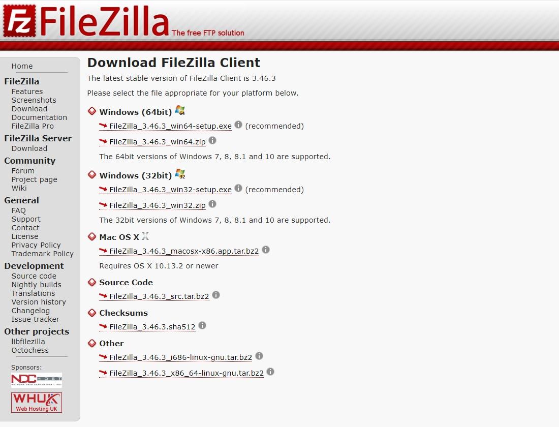 Filezilla下載 免費好用的FTP軟體 繁體中文介面 支援續傳效能完善